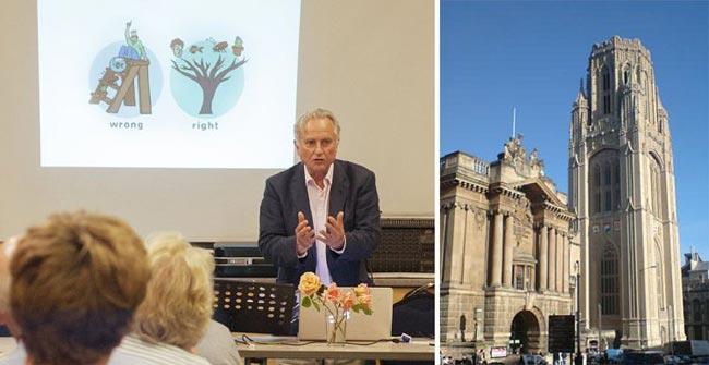 Professor Richard Dawkins | Wills Memorial Building | Bristol University